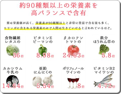 90種類以上の栄養素・次世代スーパーフード!内側からのキレイを応援する【ビューティーモリンガ】効果・口コミ。