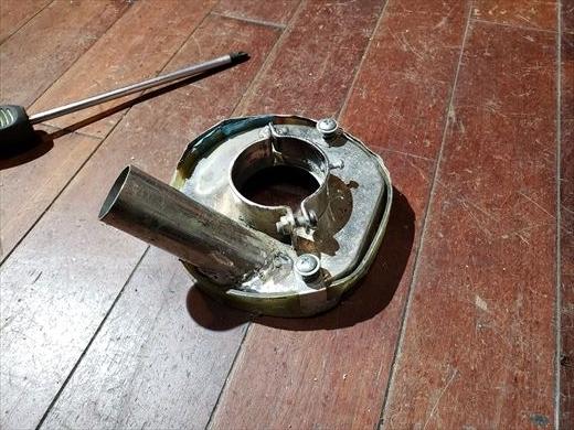 集塵カップ修理