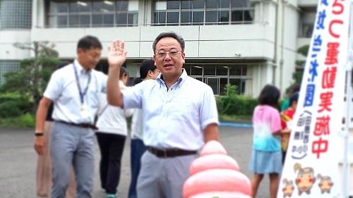 【田原西小学校<あいさつ運動>へ!】①
