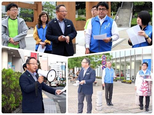 UAゼンセン ヤングリーブス とちぎ<北朝鮮による拉致被害者の早期救出を求める街頭署名活動>!②