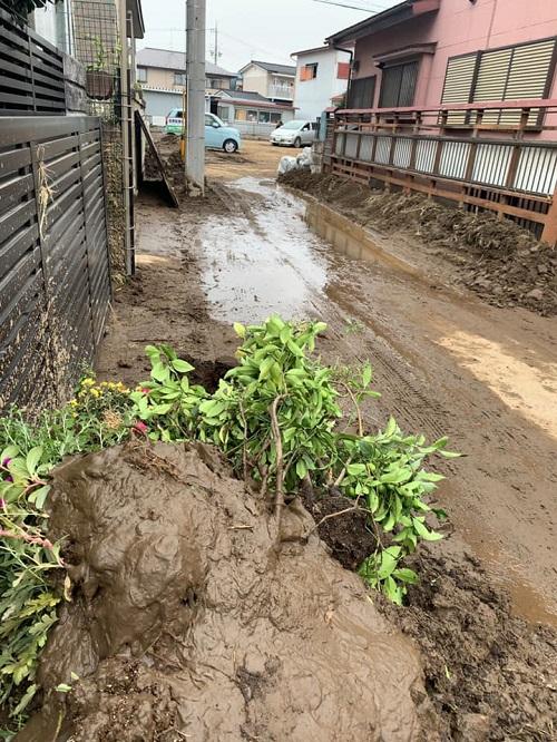 台風19号による田川氾濫の被害状況②