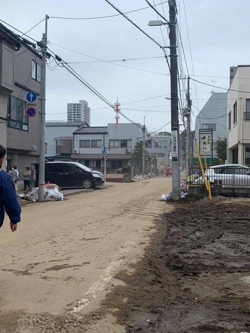台風19号による田川氾濫の被害状況③