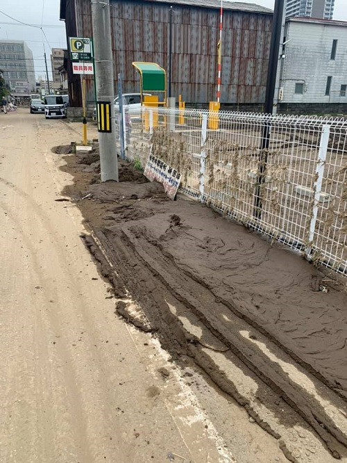 台風19号による田川氾濫の被害状況④