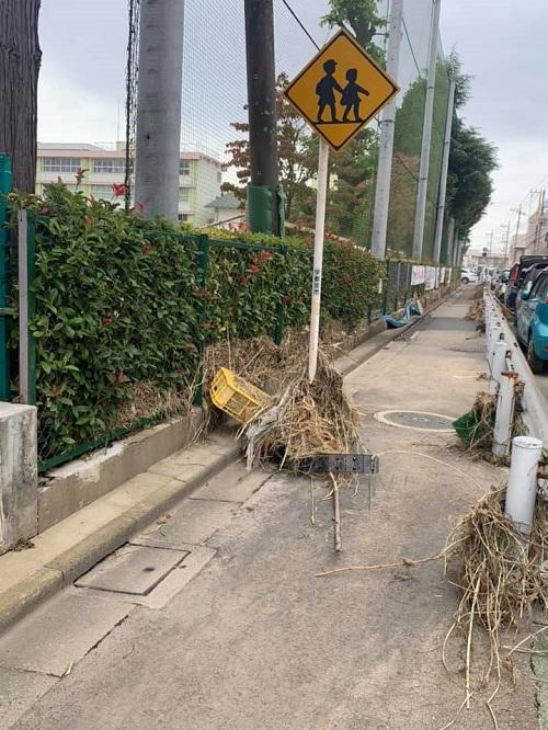 台風19号による田川氾濫の被害状況⑤