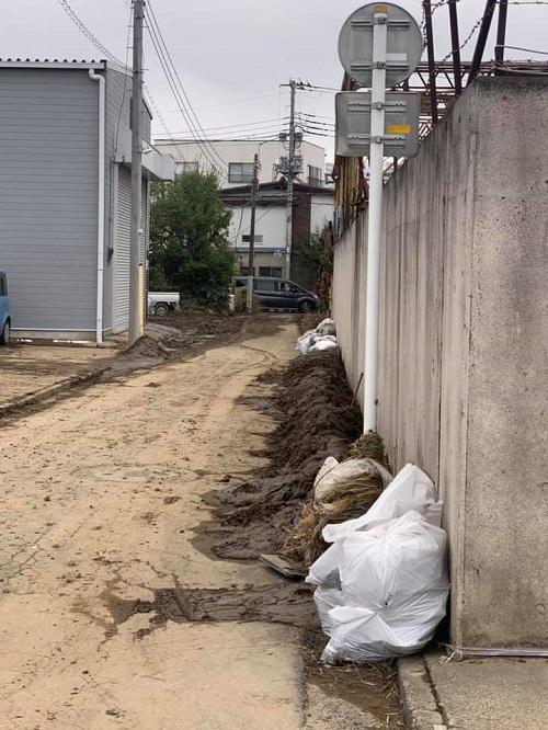 台風19号による田川氾濫の被害状況⑥