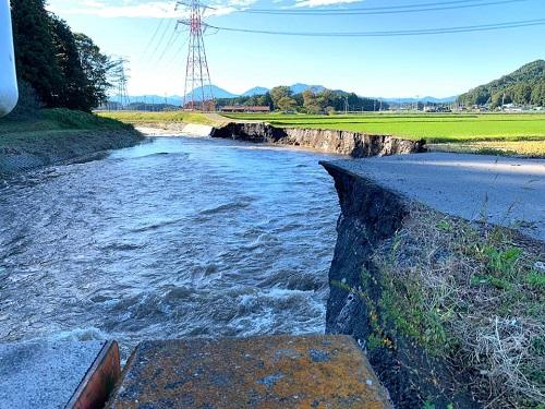 台風19号による被害状況 調査 13日⑥