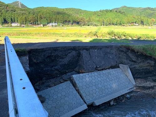 台風19号による被害状況 調査 13日⑨