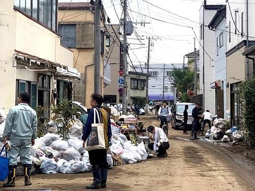 台風19号による被害状況 調査 14日③