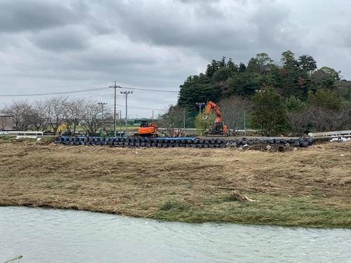 台風19号による被害状況 調査 18日 栃木市04