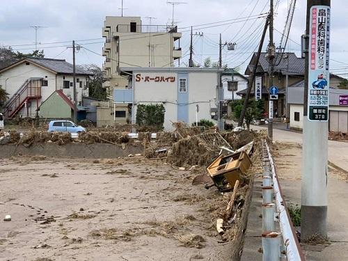 台風19号による被害状況 調査 18日 栃木市07