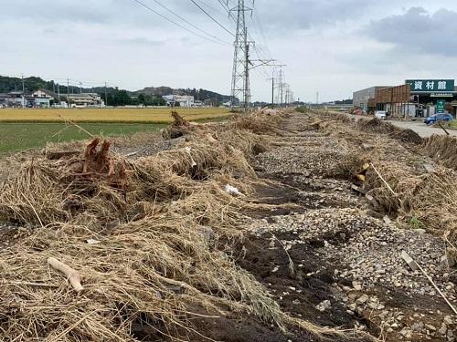 台風19号による被害状況 調査 18日 栃木市17