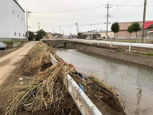 台風19号による被害状況 調査 18日 佐野市①