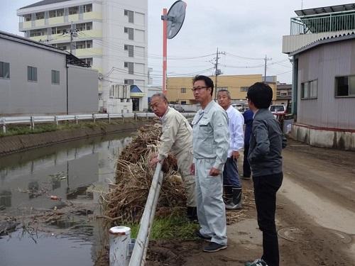 台風19号による被害状況 調査 18日 佐野市④