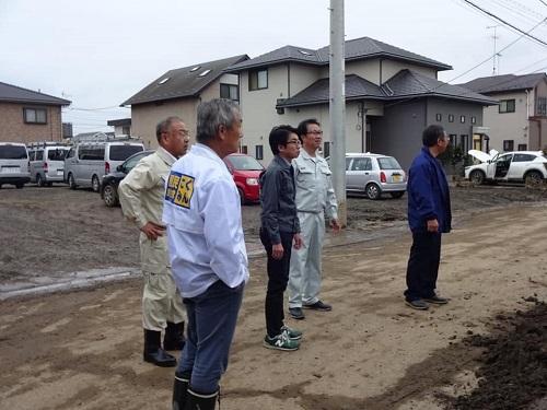 台風19号による被害状況 調査 18日 佐野市⑤