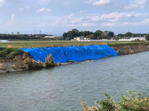 <令和元年 台風19号>による被害状況 現地調査(上三川町/田川)⑥