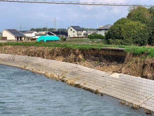 <令和元年 台風19号>による被害状況 現地調査(上三川町/田川)⑦