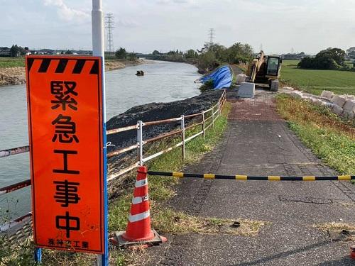 <令和元年 台風19号>による被害状況 現地調査(上三川町/田川)⑩