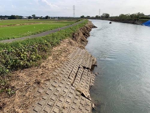 <令和元年 台風19号>による被害状況 現地調査(上三川町/田川)⑪