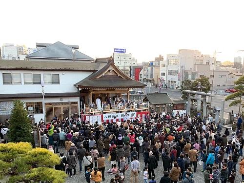 今泉 八坂神社<節分祭>追儺式・福撒き!④