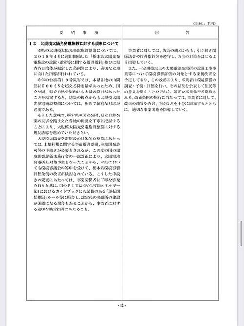 栃木県議会<民主市民クラブ>2020年度 政策推進・予算化要望 ⇒ 知事回答!16
