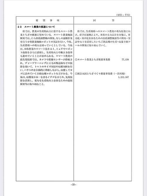 栃木県議会<民主市民クラブ>2020年度 政策推進・予算化要望 ⇒ 知事回答!26