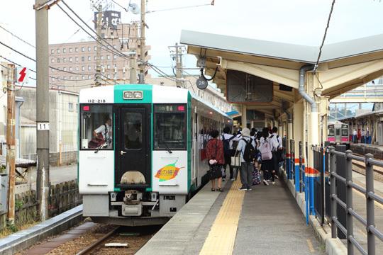 新庄行き@酒田駅