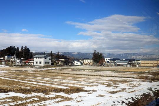 米坂線萩生付近