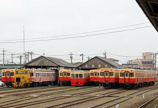 小湊鉄道の車両基地