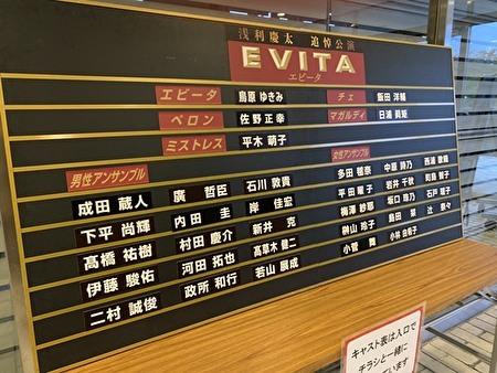 EVITA cast