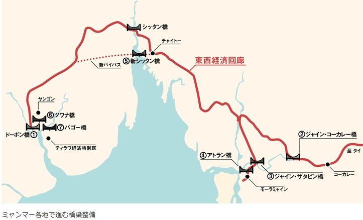 2019-11-4ミャンマー各地で進む橋梁整備