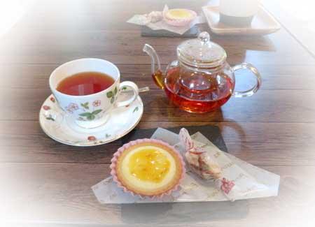 0907紅茶&梅タルト