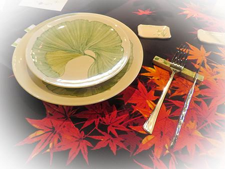 0909大皿蕗 &ナイフレスト
