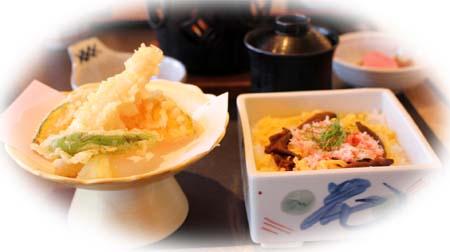 1122天麩羅・ちらし寿司1