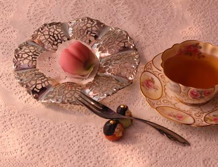 0302生菓子桃の花