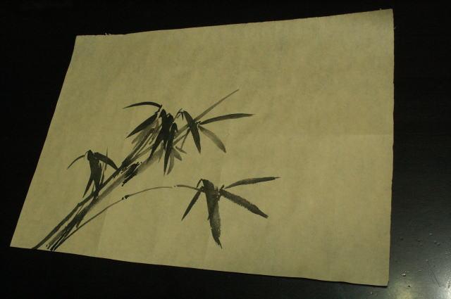 笹 水墨画