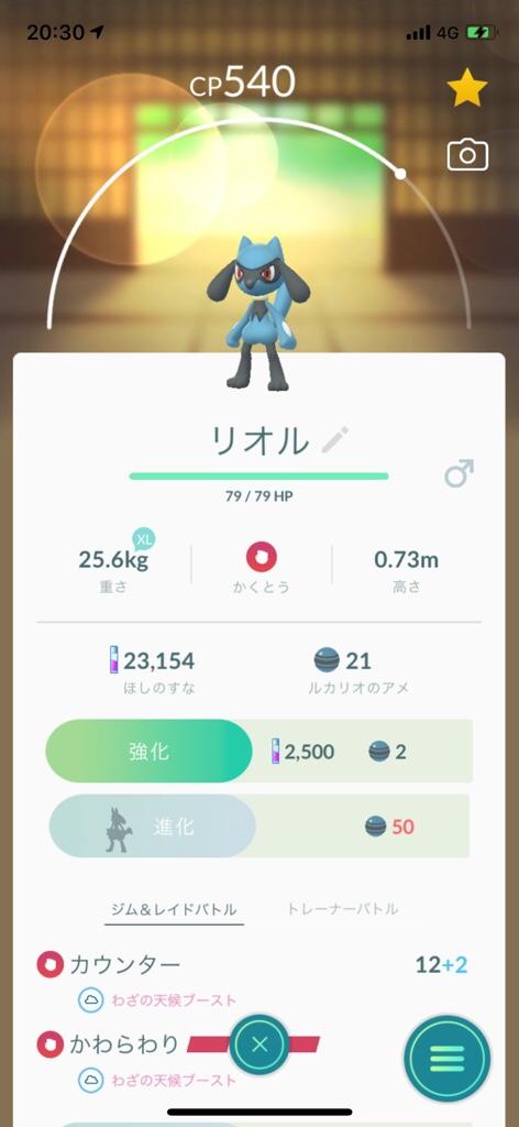 色 違い ポケモン go リオル