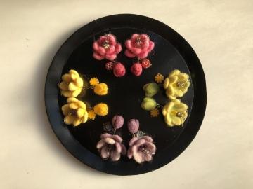 ハスの花のピアス