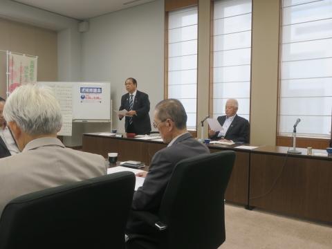 「代表質問・議員会・正副委員長会議・大井川知事を励ます会」③