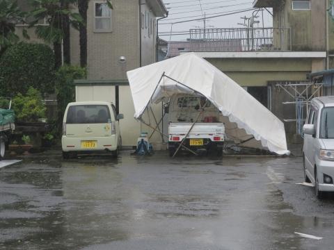 令和1年9月9日「親父のテントが台風15号での被害」⓪