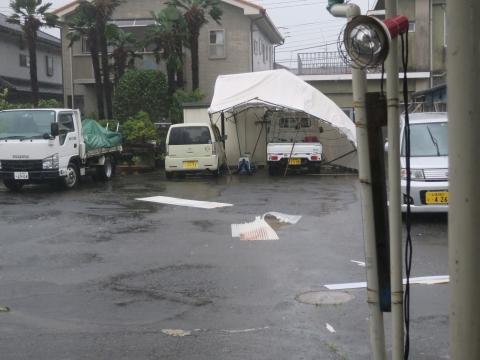 令和1年9月9日「親父のテントが台風15号での被害」②