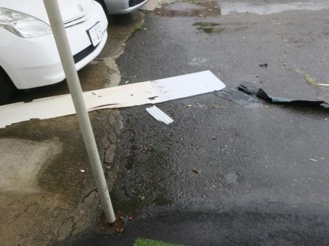 令和1年9月9日「親父のテントが台風15号での被害」③
