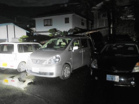 「台風19号被害。鯉のぼり竿が車3台を直撃しました。」① (1)_R