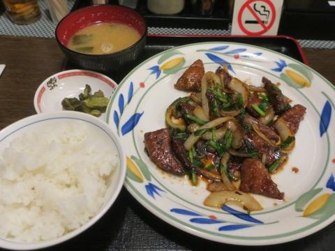 「ヨット食堂駅前店のレバニラ炒め定食」①