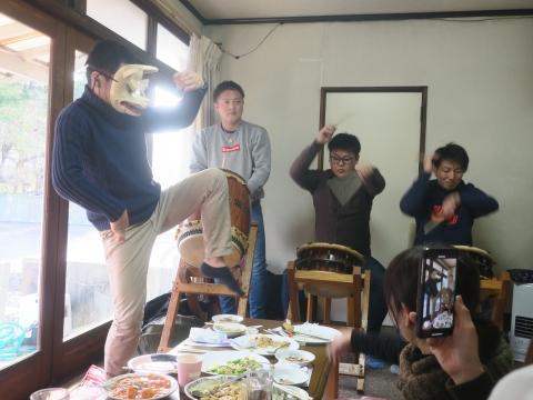 「若松囃子連新年会」威風園⑧