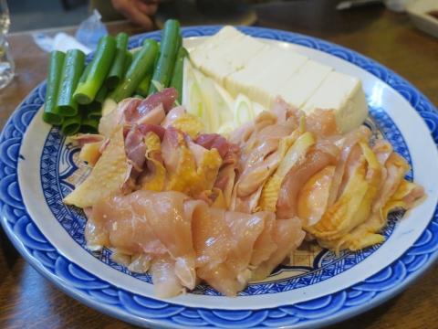 「軍鶏鍋(しゃもなべ)&真鯛の刺身&はたのカルパッチョ」かって屋昭和ごはん①_R