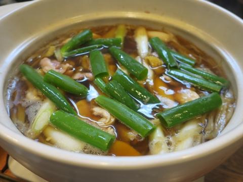 「軍鶏鍋(しゃもなべ)&真鯛の刺身&はたのカルパッチョ」かって屋昭和ごはん⑧_R