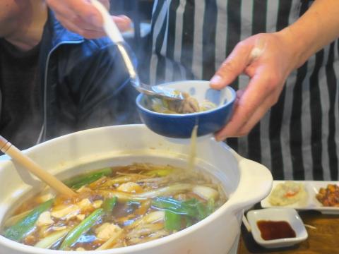 「軍鶏鍋(しゃもなべ)&真鯛の刺身&はたのカルパッチョ」かって屋昭和ごはん⑨_R