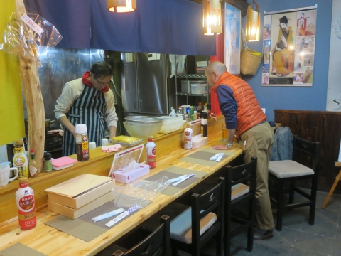 「軍鶏鍋(しゃもなべ)&真鯛の刺身&はたのカルパッチョ」かって屋昭和ごはん㉒_R