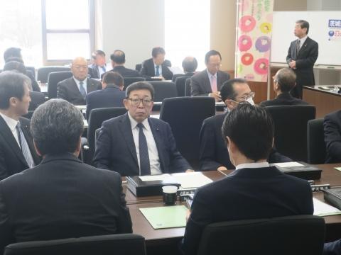 「茨城県令和2年新年度予算内示会」「自民党議員会」⑤