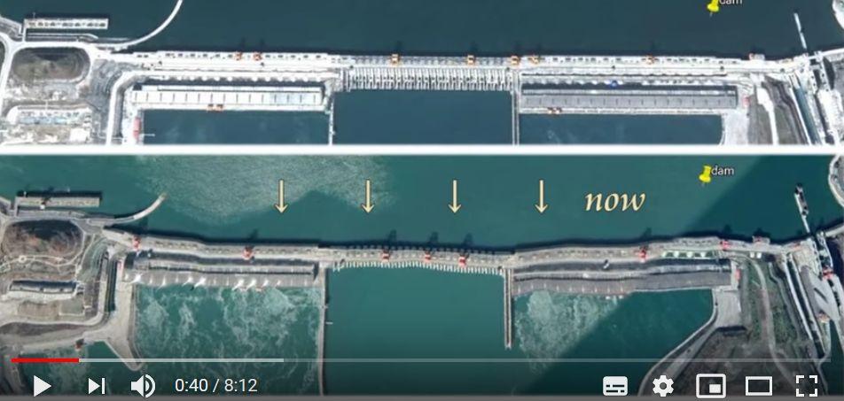 三峡ダム変形の新旧比較